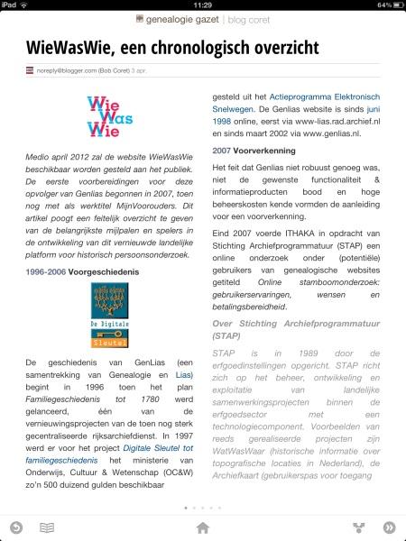Genealogie Gazet op de iPad - view 5