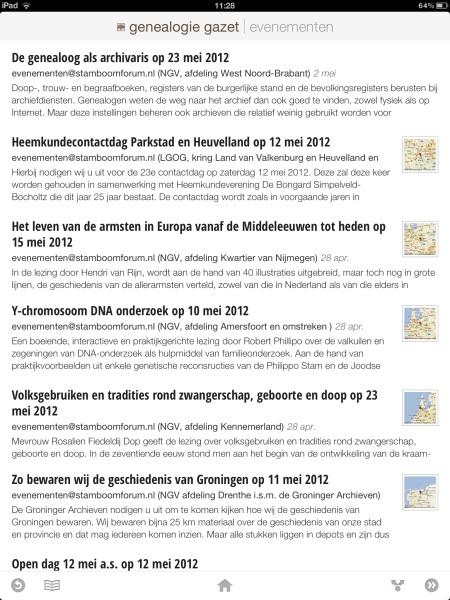 Genealogie Gazet op de iPad - view 7