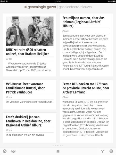 Genealogie Gazet op de iPad - view 3