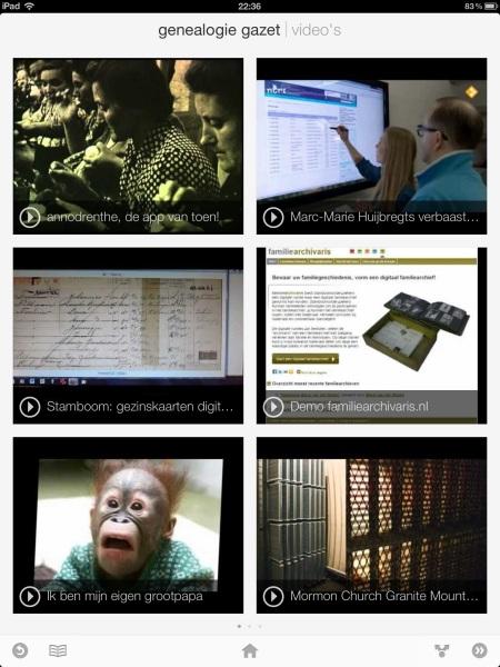 Genealogie Gazet op de iPad - view 4
