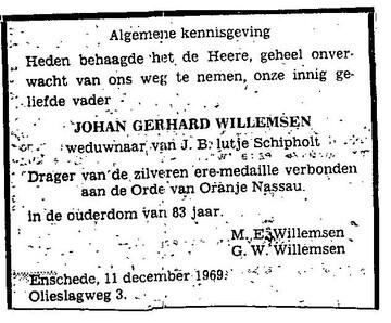 Afbeelding bij Johan Gerhard Willemsen